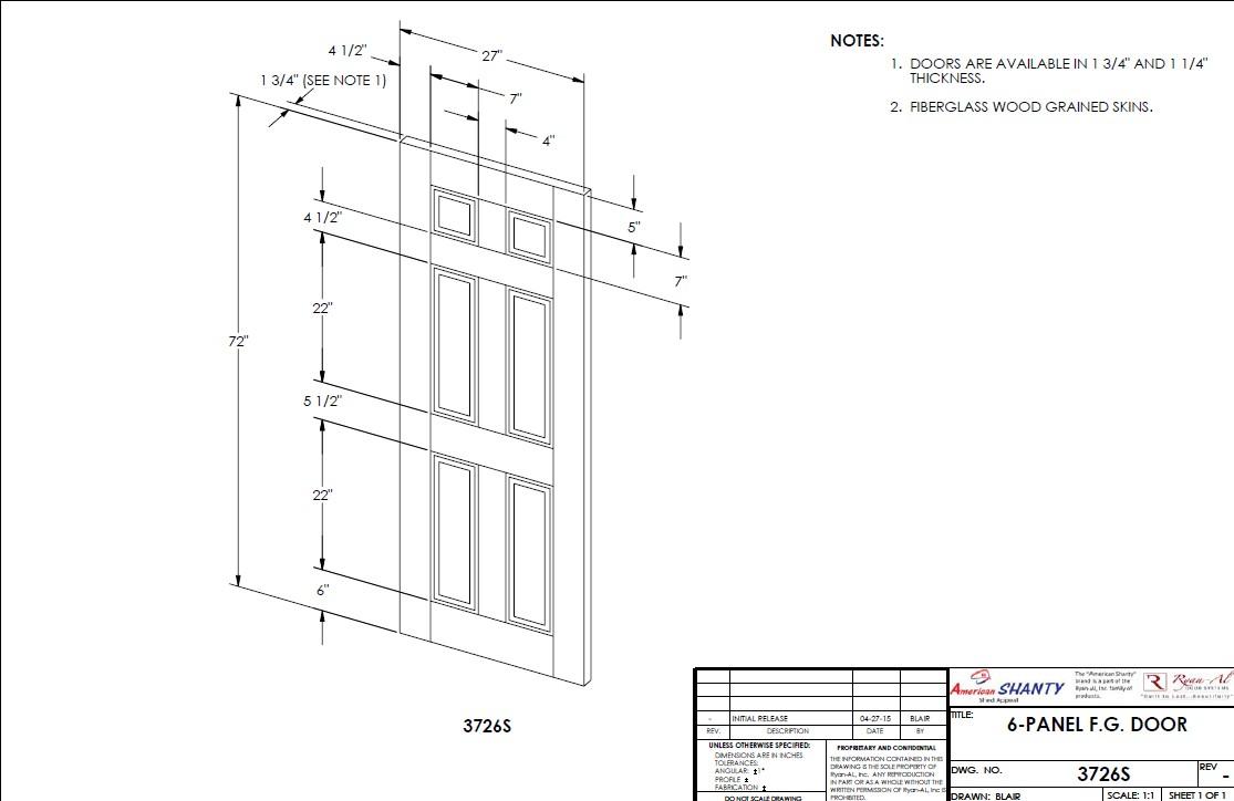 6 panel wood doors